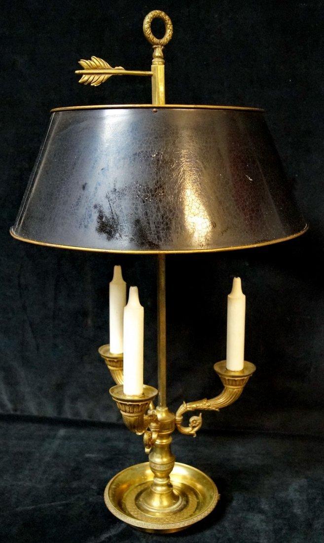 BRONZE BOUILLOTTE LAMP W/ TOLE SHADE