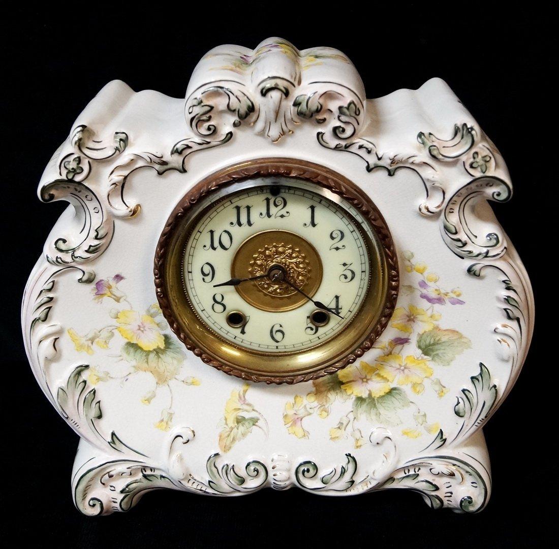 WATERBURY PORCELAIN CLOCK
