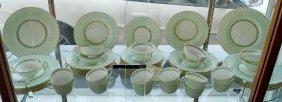 50 + Pcs. Minton Cheviot Pattern Dinner Service