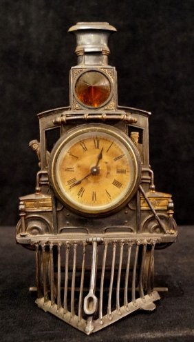 Ansonia Steam Engine Form Clock