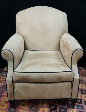 Faux Suede Upholstered Club Chair