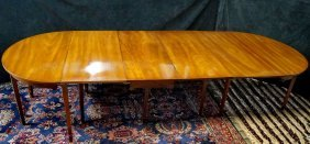 19th C American Dining Table With 2 Leaves