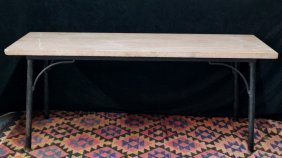 Iron Base Marble Top Table