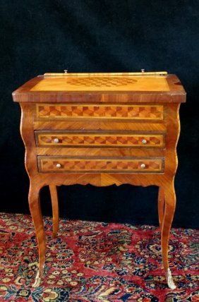 18th C. Louis Xv Style Side Table/firescreen