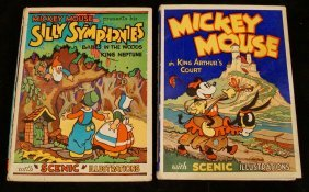 "2 Books "" Mickey Mouse In King Arthur's Court"""
