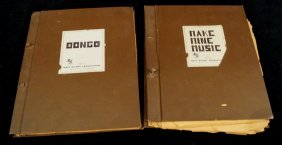 "2 Disney Original Production Manuscripts"" Fun & Fancy"