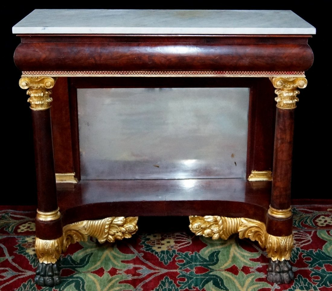 AMERICAN MARBLE TOP PIER TABLE