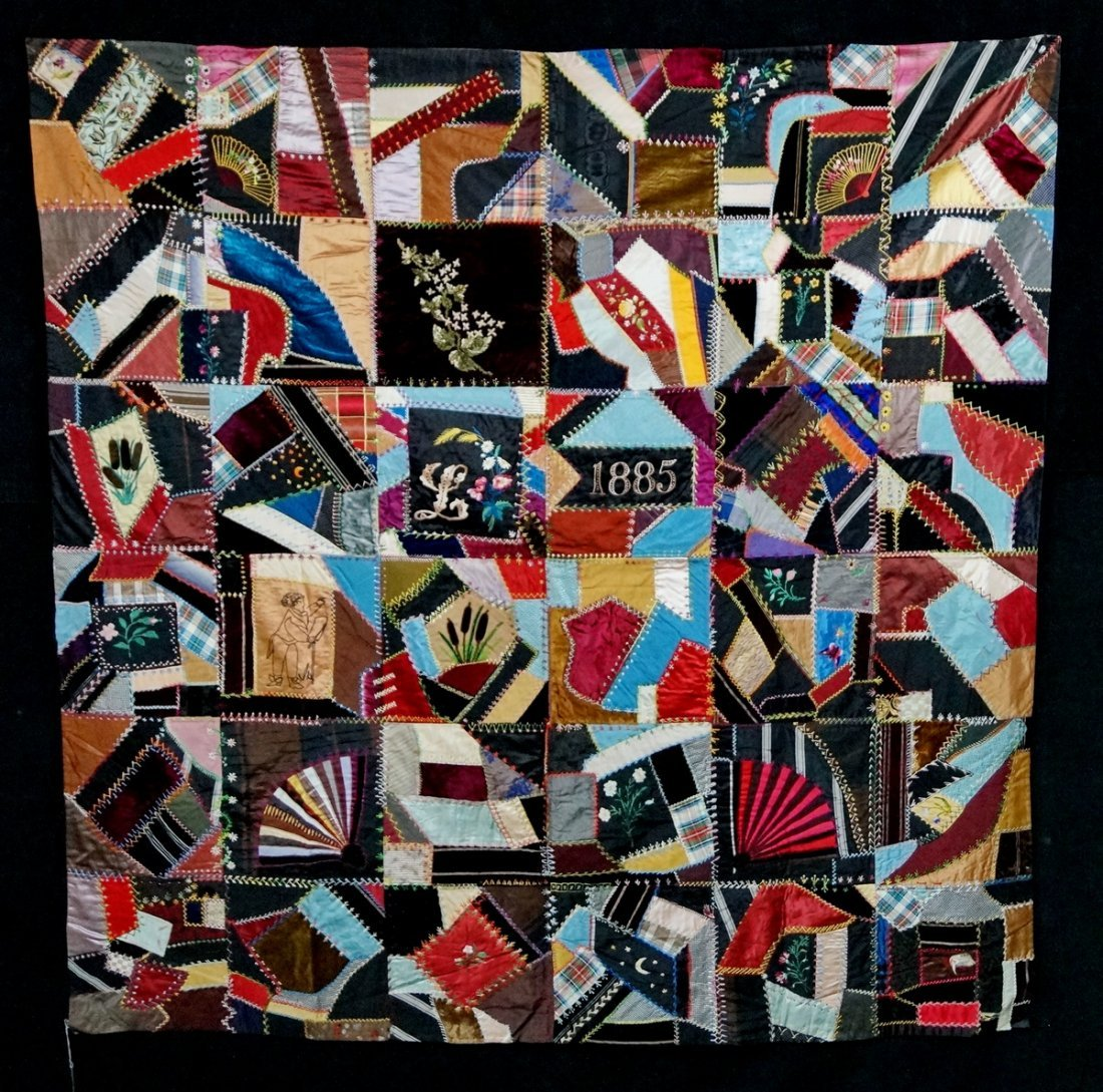 Handmade Crazy Quilt 1885 (With images