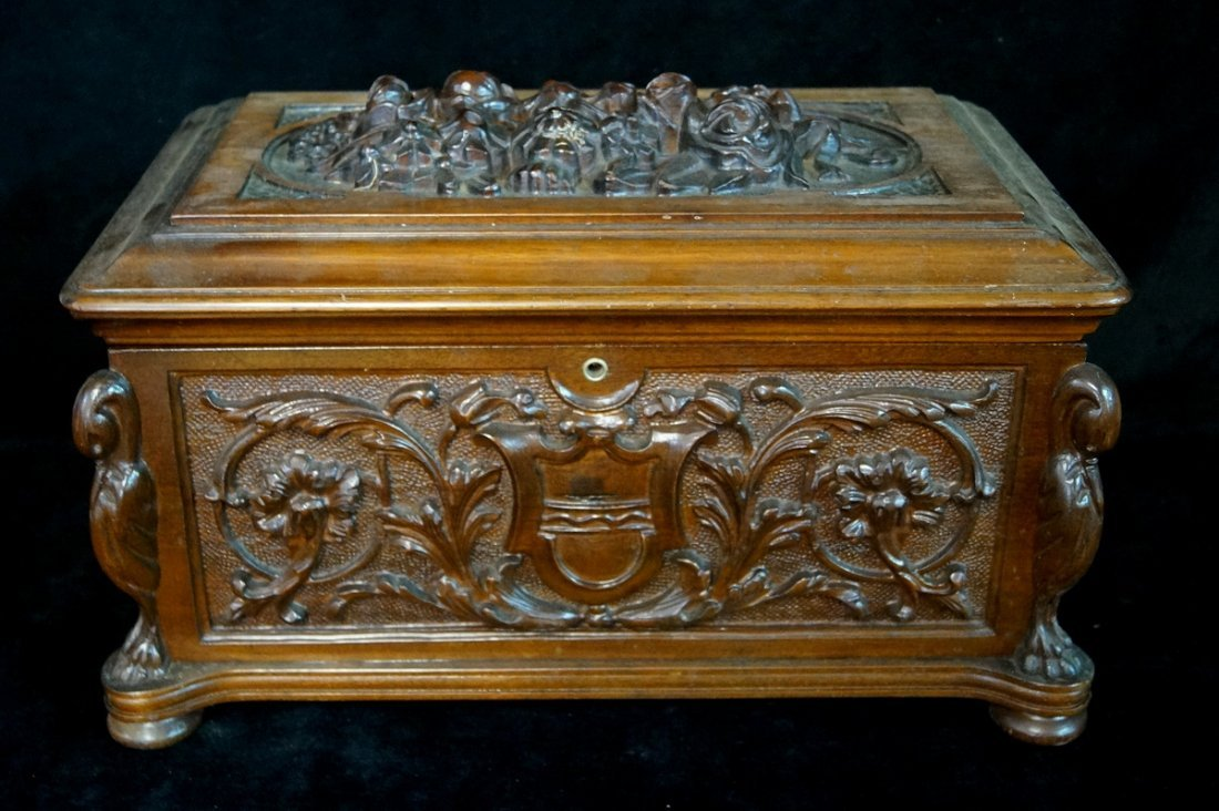ORNATELY CARVED HUMIDOR
