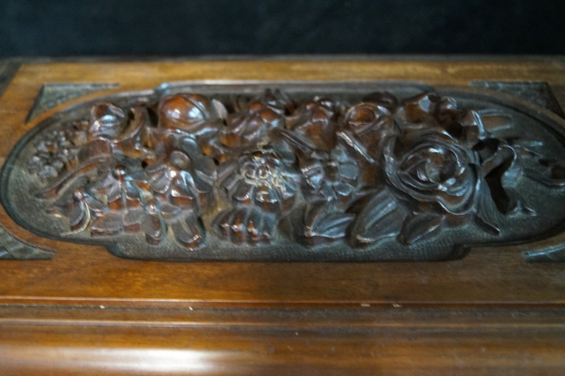 ORNATELY CARVED HUMIDOR - 2