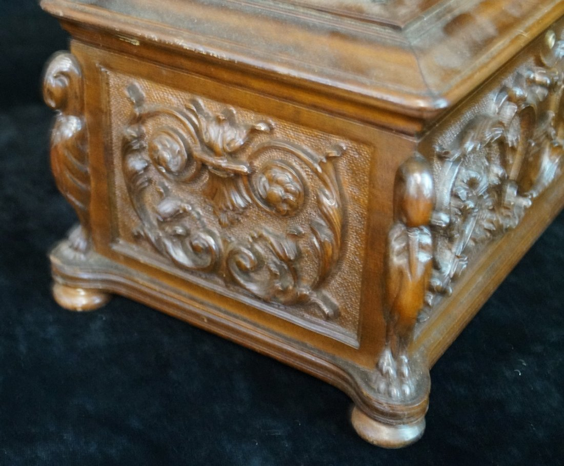 ORNATELY CARVED HUMIDOR - 3
