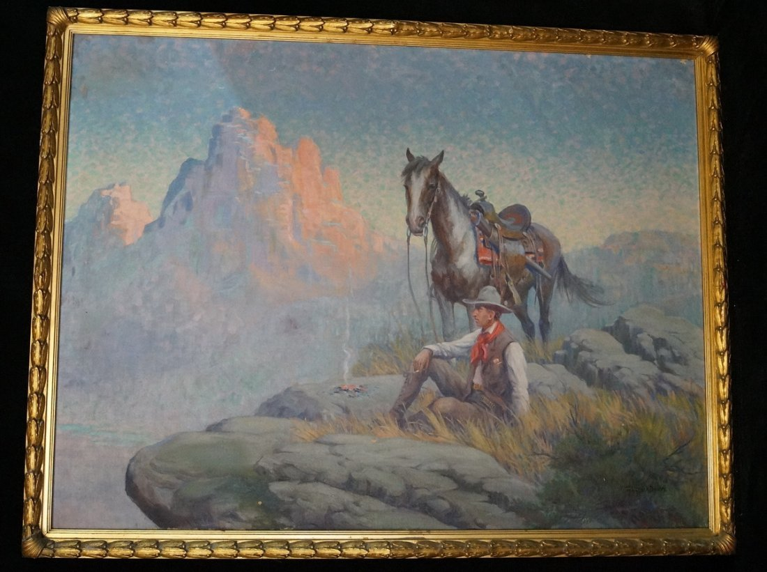 "O/C ""WESTERN SCENE"" SGN. FREDERICK BOWER"