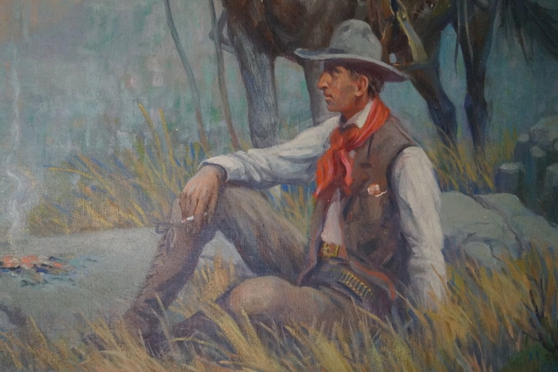 "O/C ""WESTERN SCENE"" SGN. FREDERICK BOWER - 3"