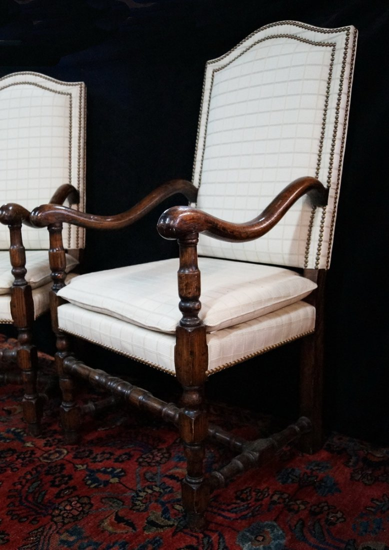 PR. JACOBEAN STYLE OPEN ARM CHAIRS - 2
