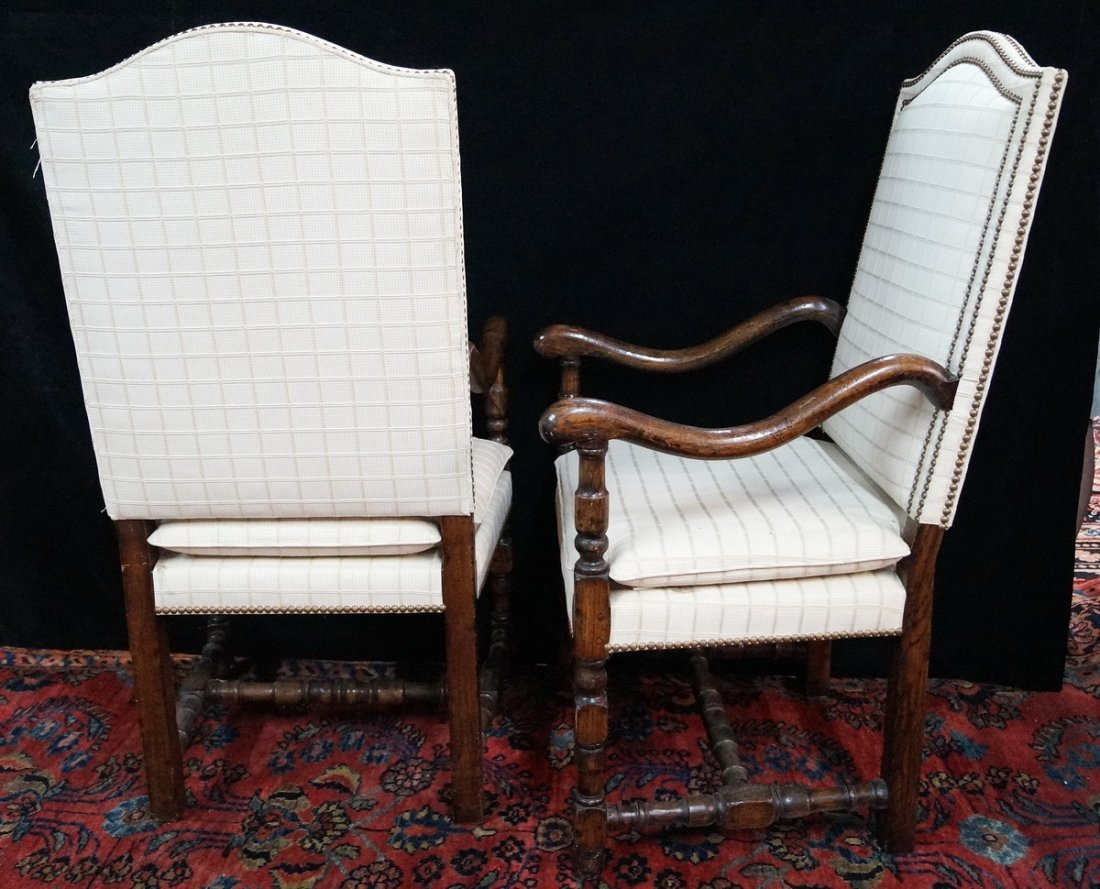 PR. JACOBEAN STYLE OPEN ARM CHAIRS - 4