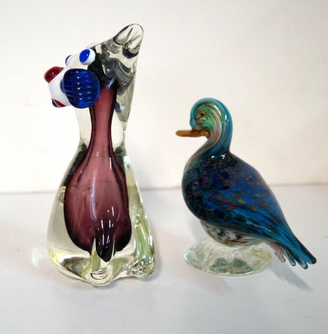 4 MURANO GLASS ANIMALS - 4