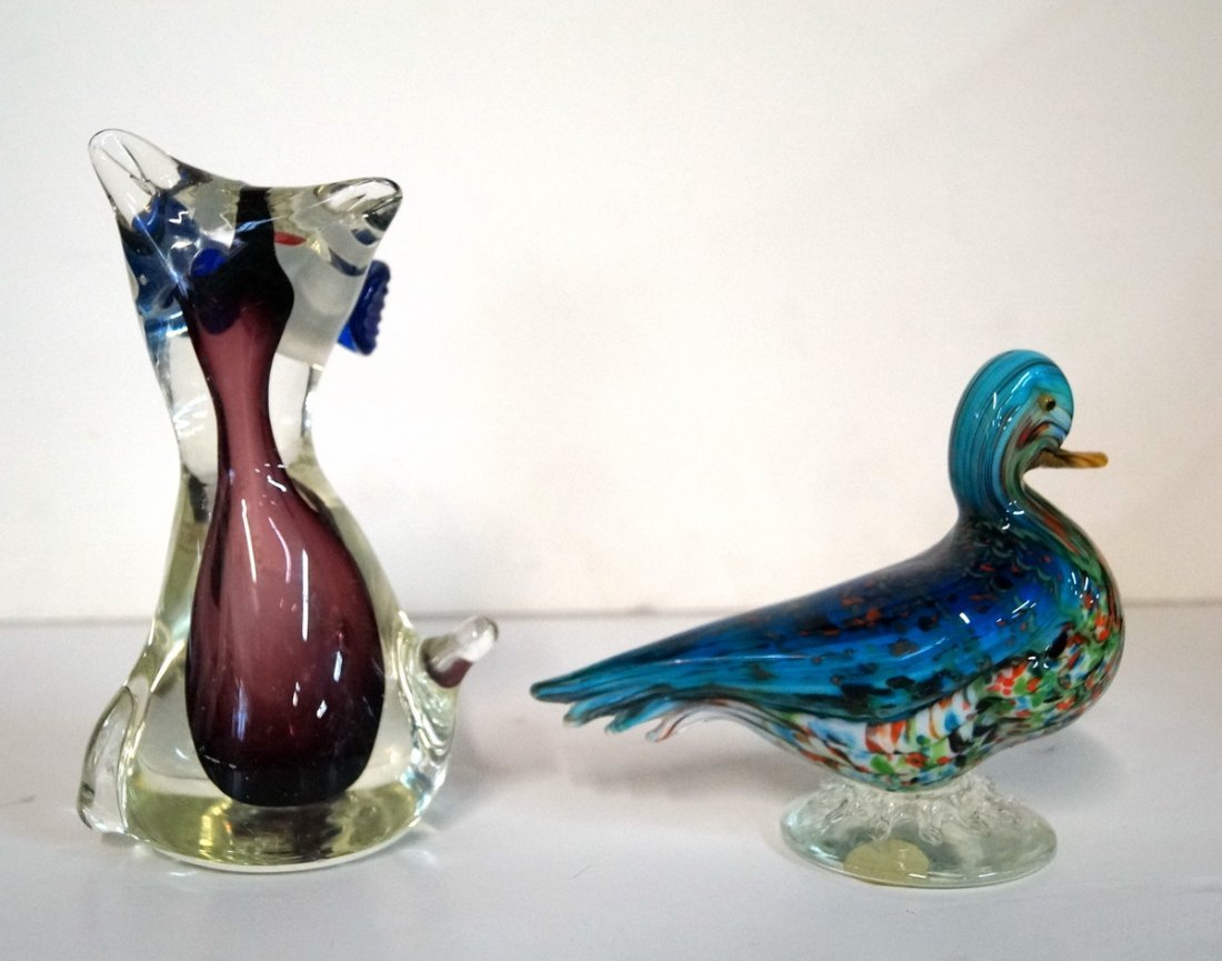 4 MURANO GLASS ANIMALS - 5