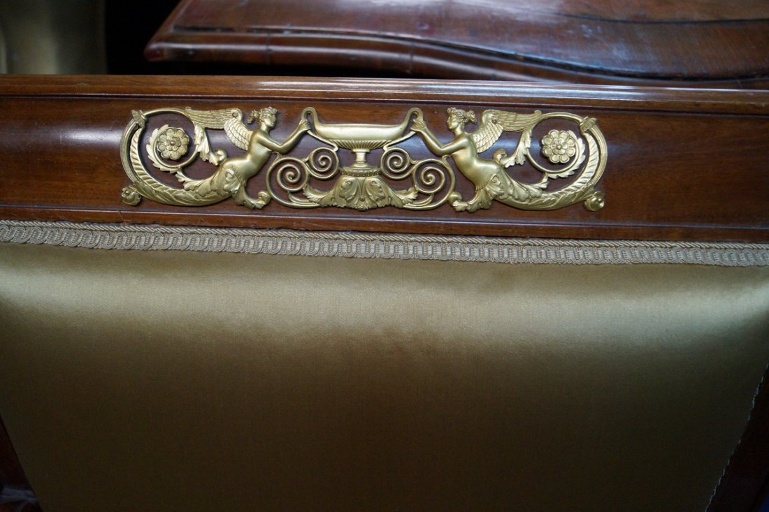 PR. 19TH C. EMPIRE FAUTEUILS W/ WINGED GRIFFINS - 6