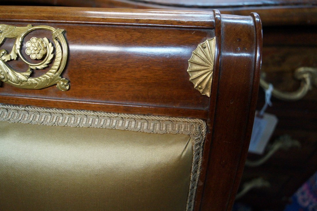 PR. 19TH C. EMPIRE FAUTEUILS W/ WINGED GRIFFINS - 7