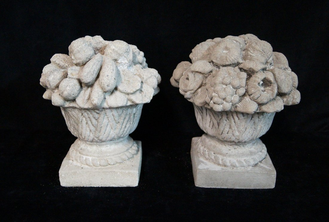 PR. GRAPE MOTIF CAST CONCRETE COMPOTES C. 1930