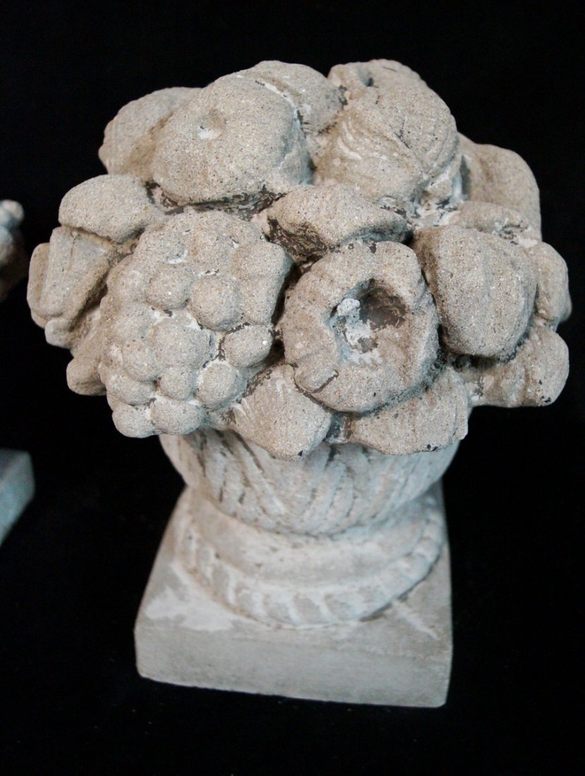 PR. GRAPE MOTIF CAST CONCRETE COMPOTES C. 1930 - 2