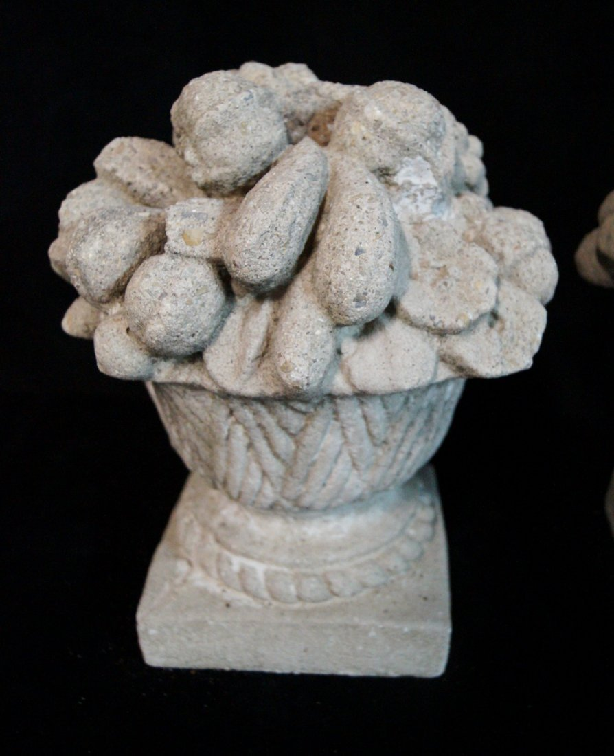 PR. GRAPE MOTIF CAST CONCRETE COMPOTES C. 1930 - 3