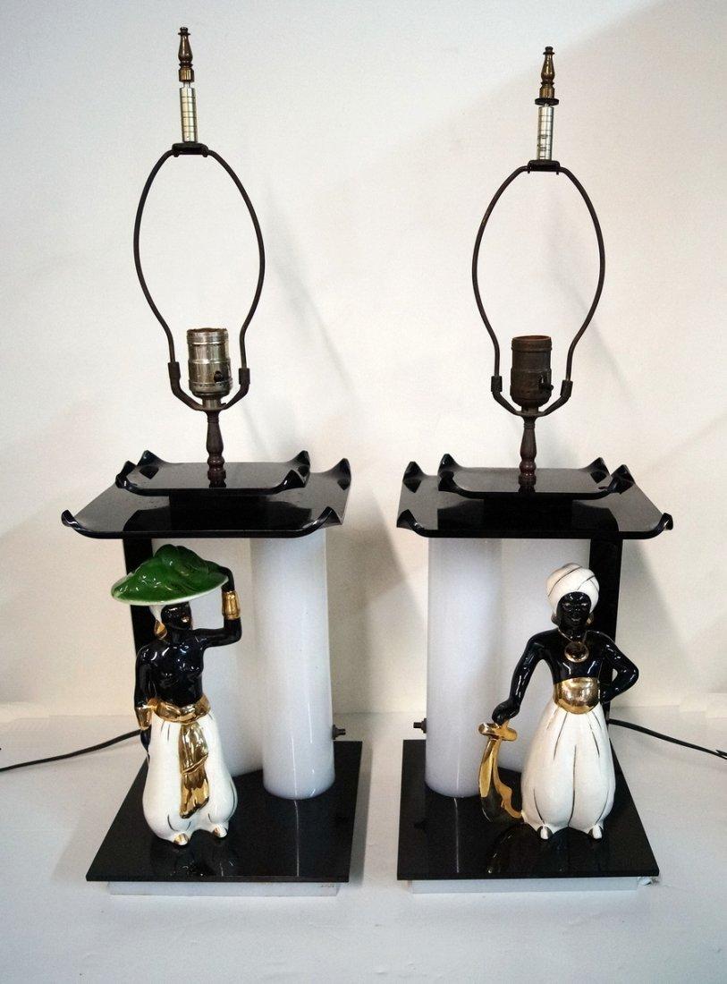 PR. PORCELAIN & LUCITE LAMPS