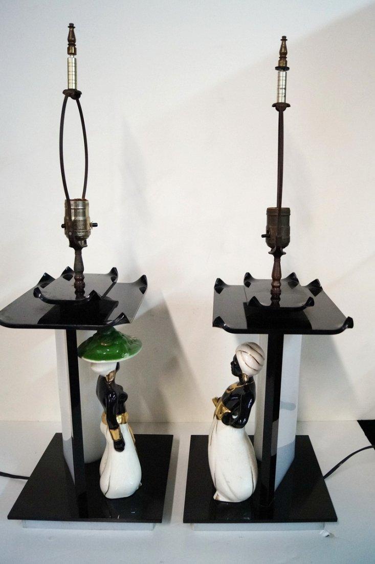 PR. PORCELAIN & LUCITE LAMPS - 2