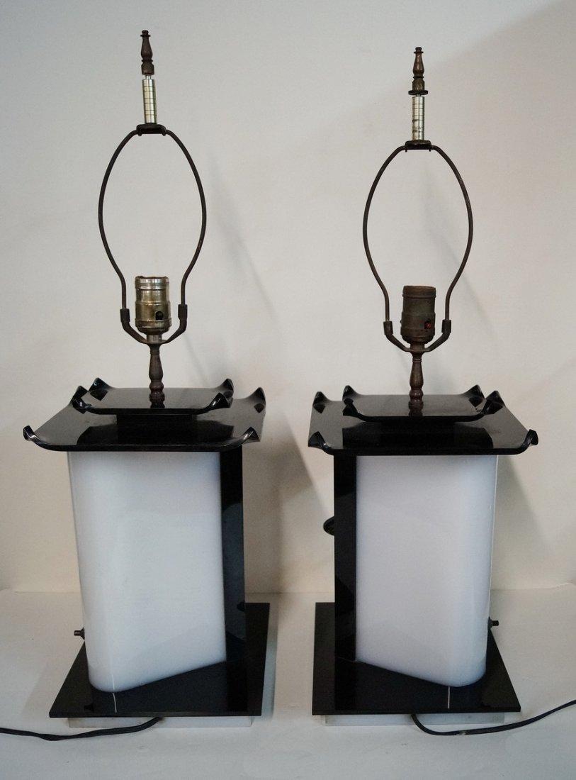 PR. PORCELAIN & LUCITE LAMPS - 3