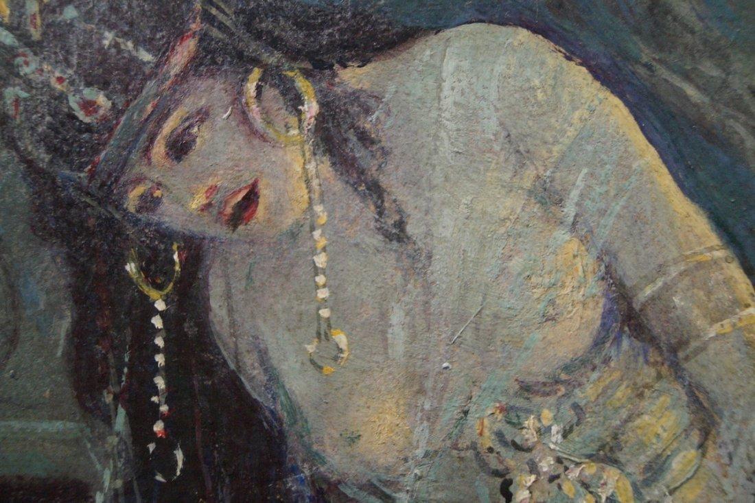 "FRAMED O/B ""ORIENTALIST FEMALE"" SGN. DIEHL 1922 - 4"