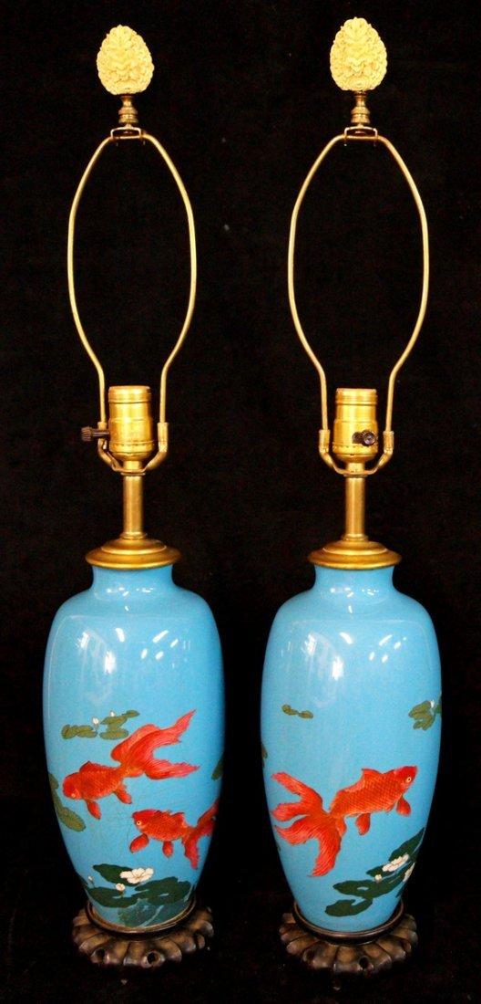 PR. CLOISONNE LAMPS