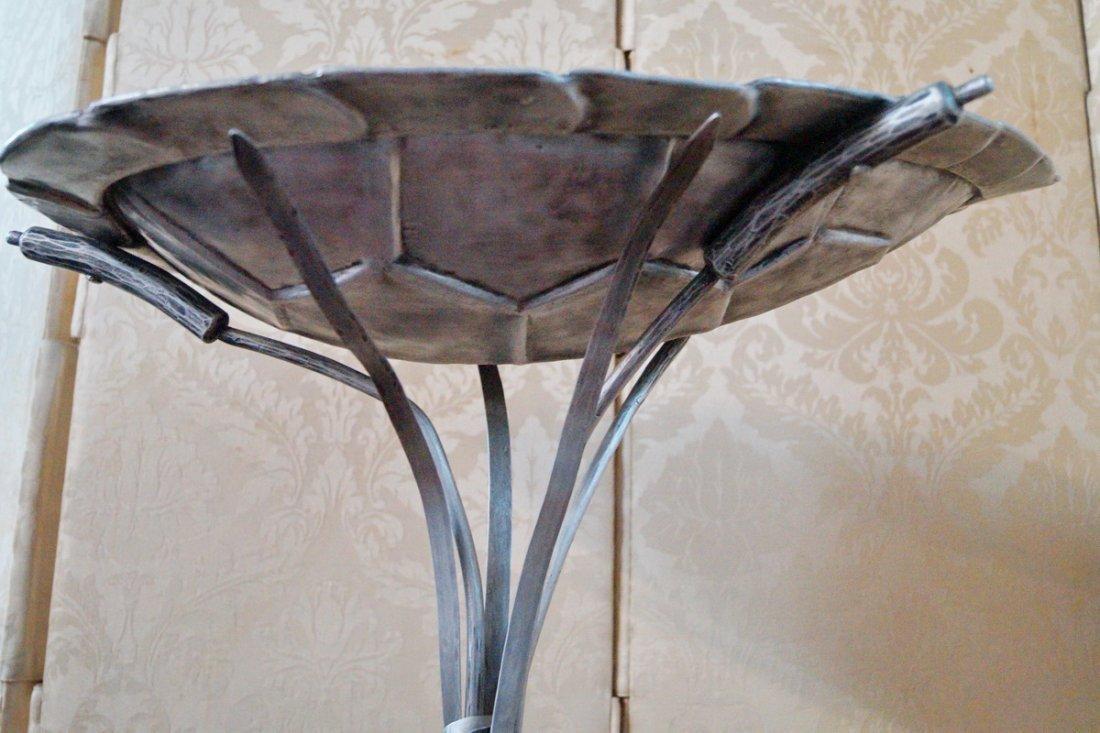 DECO IRON & ALUMINUM TURTLE FIGURAL BIRD BATH - 3
