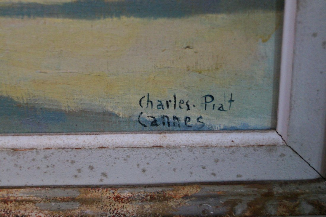 "FRAMED O/C ""CANNES"" SGN. CHARLES PIAT - 2"