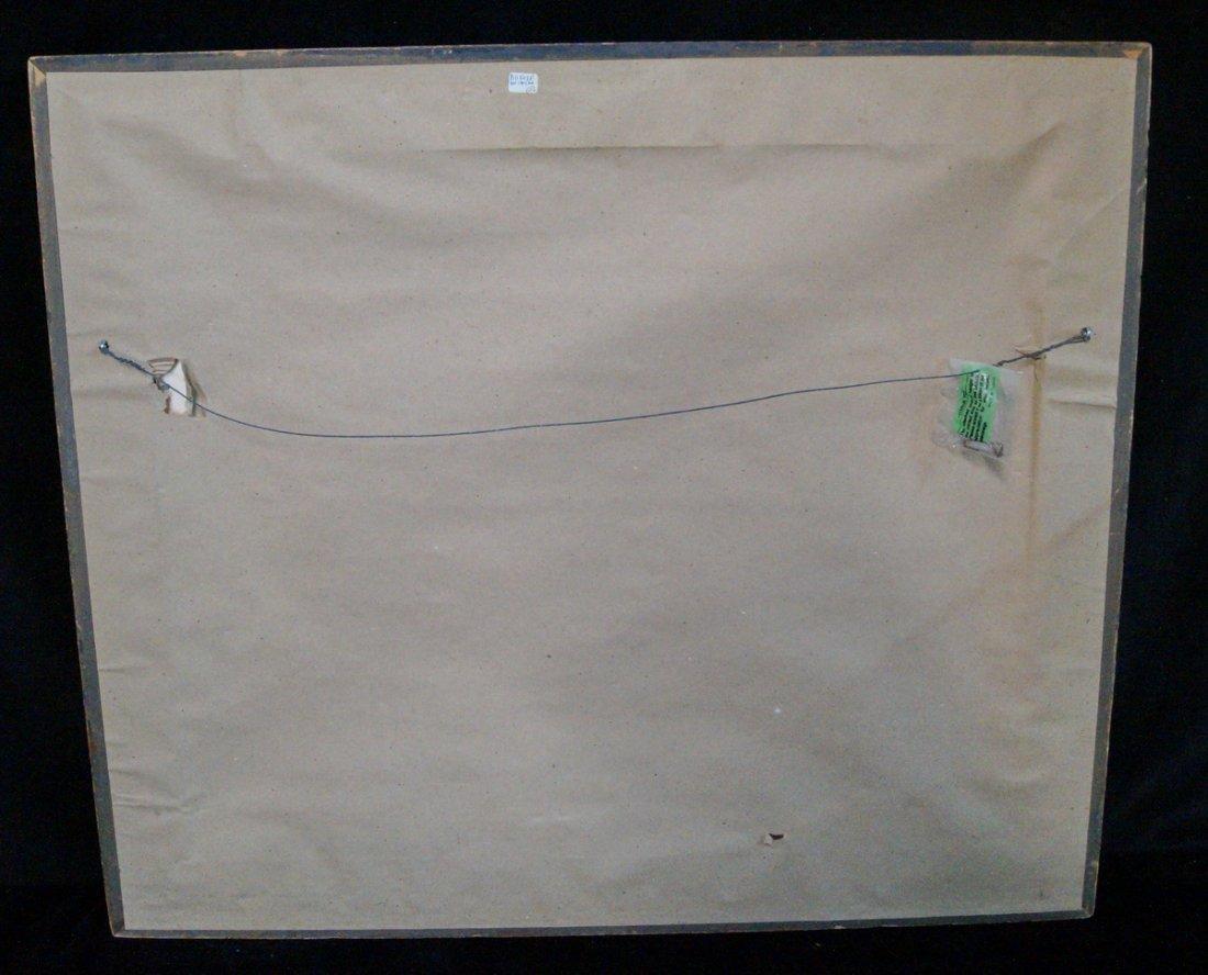 "GILT FRAME PASTEL ""FERRY & TUG BOAT"" SGN. KHS 1928 - 5"