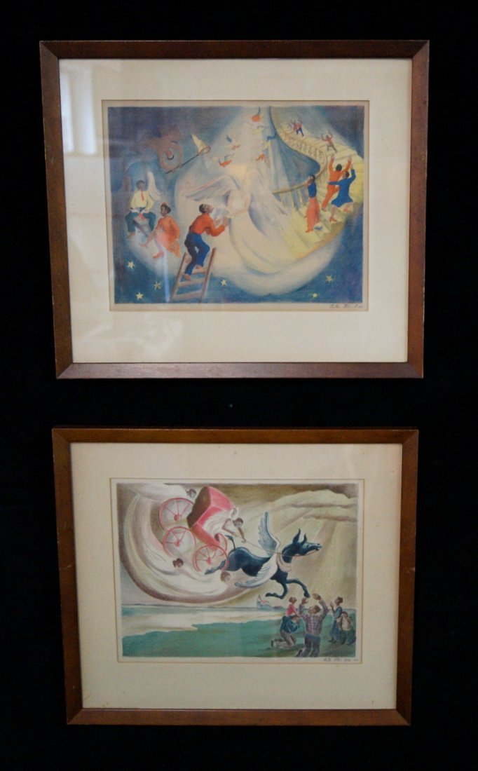 """2 LITHOGRAPHS """"SWING LOW & STAIRWAY TO HEAVEN"""" SGN."""