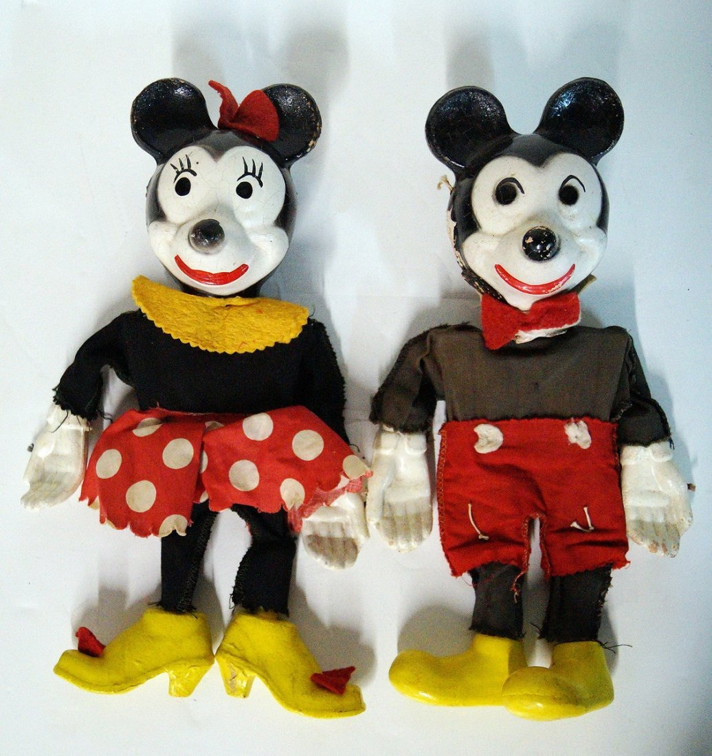 MICKEY AND MINNIE MARIONETTE PUPPETS