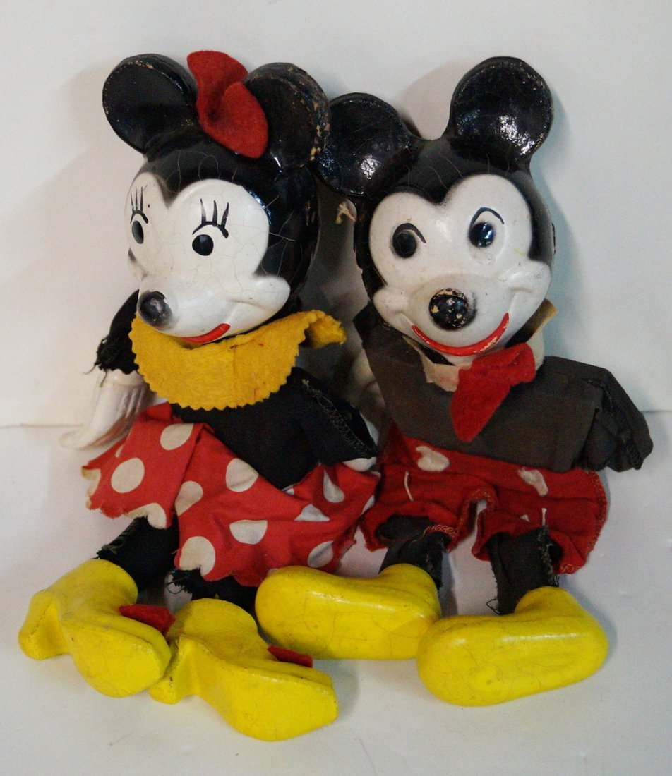 MICKEY AND MINNIE MARIONETTE PUPPETS - 6