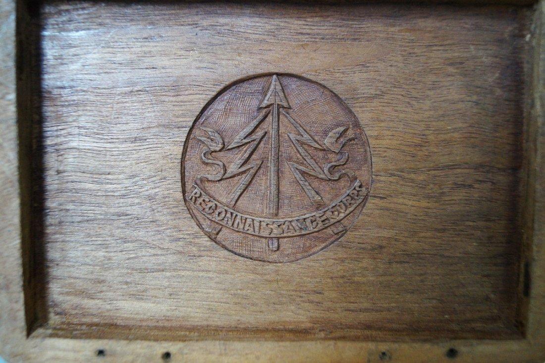 RECONNAISSANCE CORP. CARVED WOOD MUNITION BOX - 7