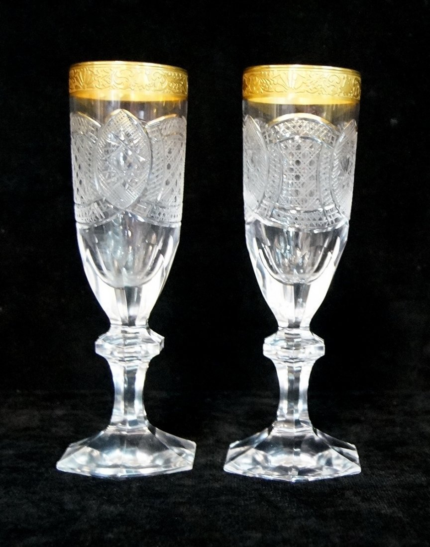 PR. ETCHED BOHEMIAN CHAMPAGNE GLASSES