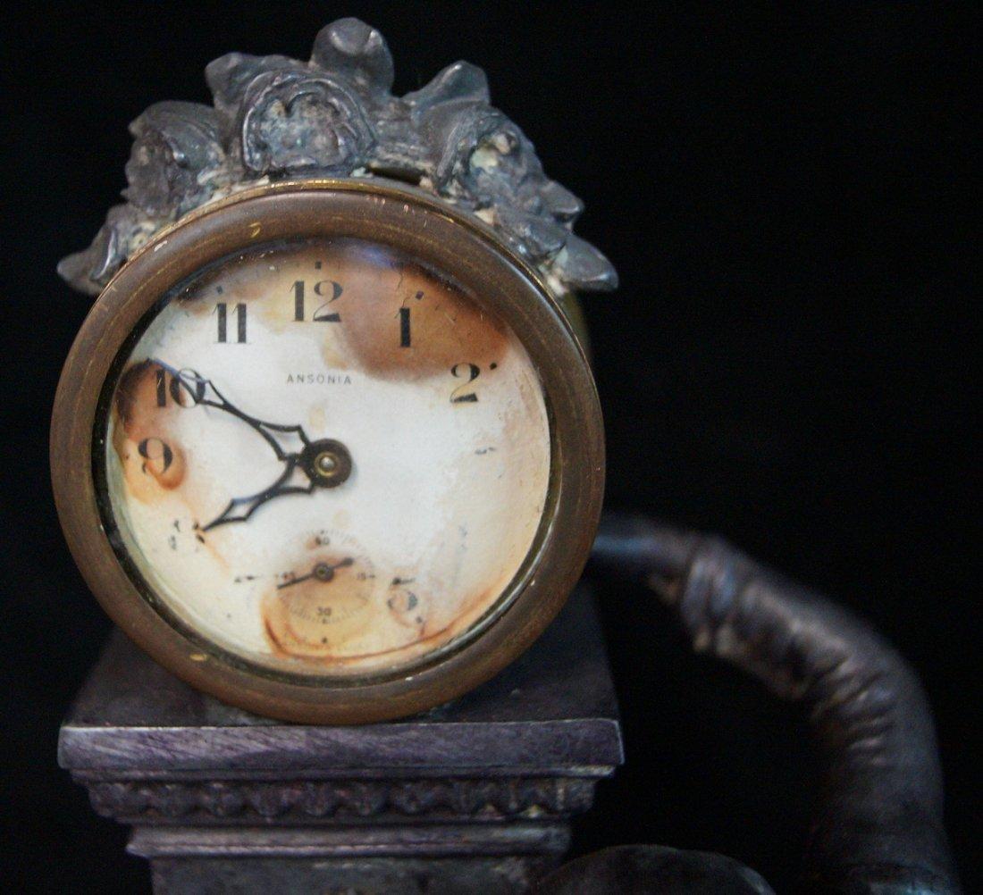 FRENCH FIGURAL CLOCK W/ ANSONIA MOVEMENT - 4