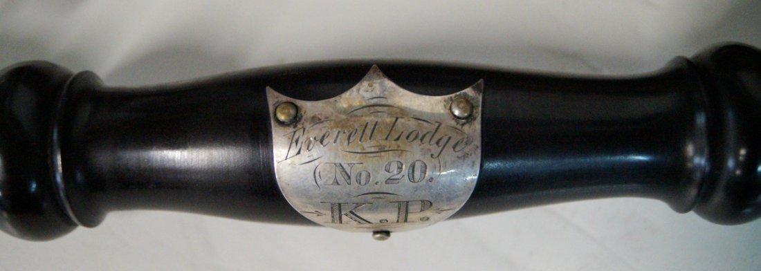 EVERETT LODGE LYNN MASS GAVEL SET 1872,  IN ROSEWOOD - 3