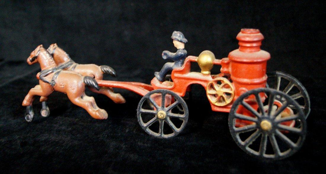 CAST IRON HORSE DRAWN FIRE PUMPER - 2
