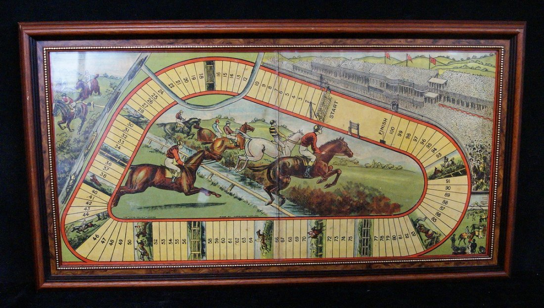 FRAMED HORSE RACE BOARD GAME