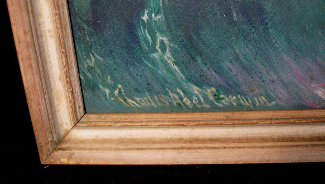 """FRAMED O/B """"WOMEN SWIMMING"""" SGN. CHARLES ABLE CORWIN - 2"""