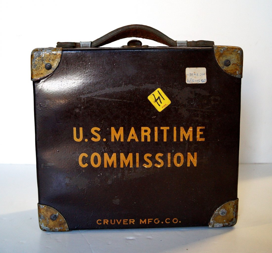 CRUVER & CO. U.S. MARITIME COMMISSION SEXTANT
