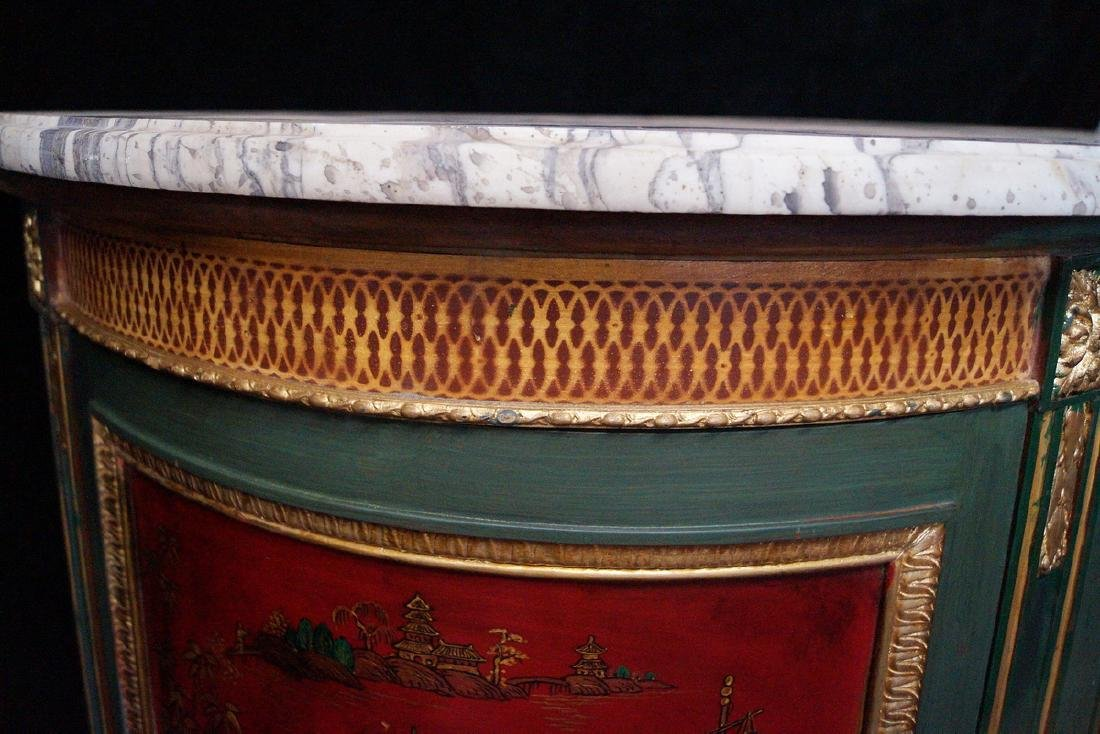 19TH C.CHINOISERIE DECORATED DEMI LUNE SERVER - 5