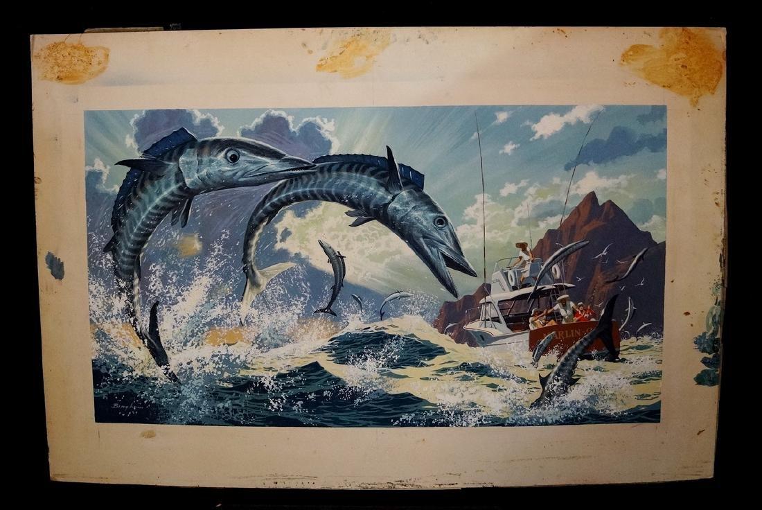 "BINGHAM SGN. O/P ILLUSTRATION ""WAHOO FISHING"""