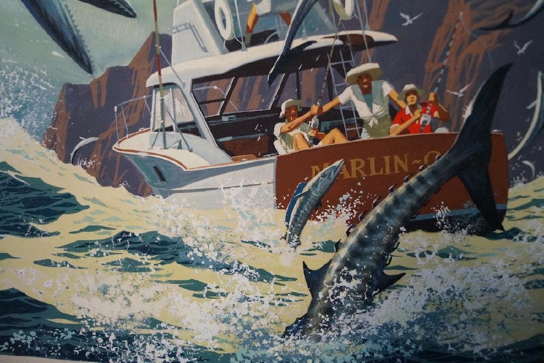 "BINGHAM SGN. O/P ILLUSTRATION ""WAHOO FISHING"" - 2"
