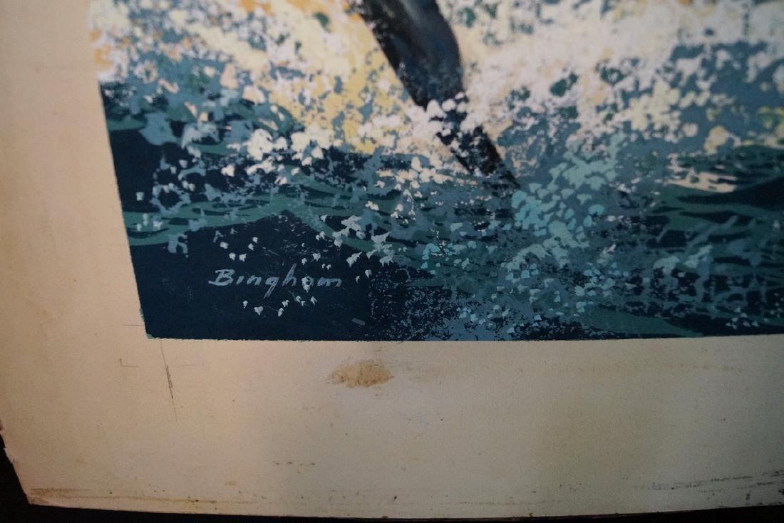 "BINGHAM SGN. O/P ILLUSTRATION ""WAHOO FISHING"" - 3"