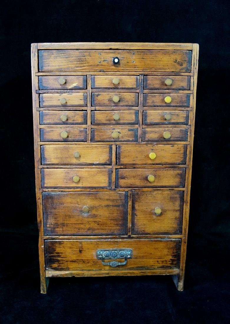ANTIQUE DIMINUTIVE APOTHECARY CHEST